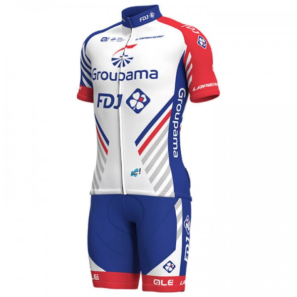 2019 GROUPAMA-FDJ Set (2 stukken) - Professioneel Wielerteam