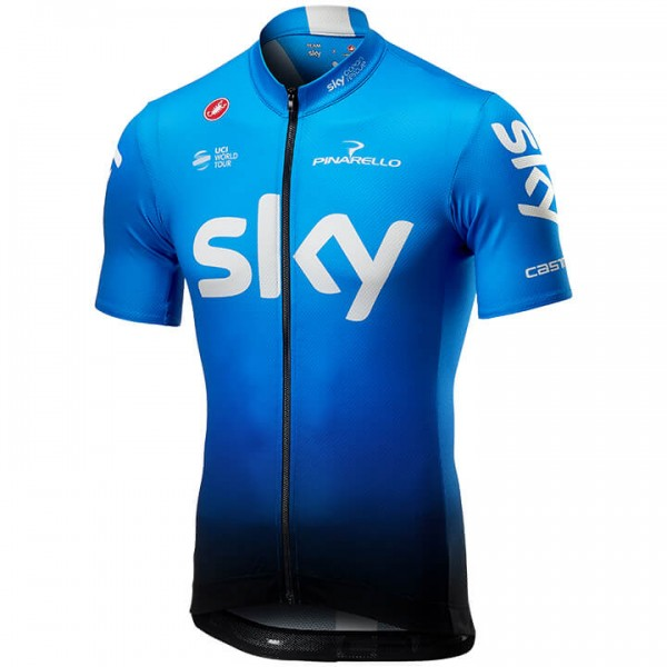 2019 Team Sky Fan Training fietsshirt met korte mouwen - Professioneel Wielerteam