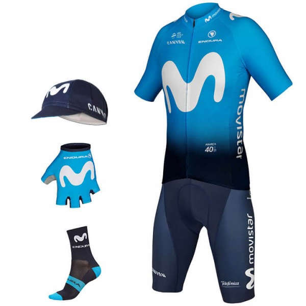 2019 MOVISTAR TEAM Maxi-Set (5 stukken) - Professioneel Wielerteam